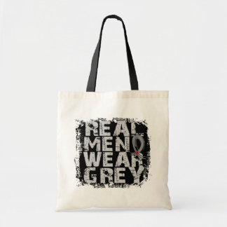 Diabetes Real Men Wear Grey Budget Tote Bag