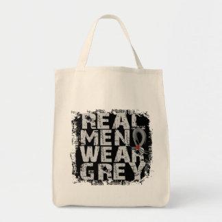 Diabetes Real Men Wear Grey Grocery Tote Bag