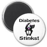 Diabetes Stinks Skunk Awareness Design 6 Cm Round Magnet