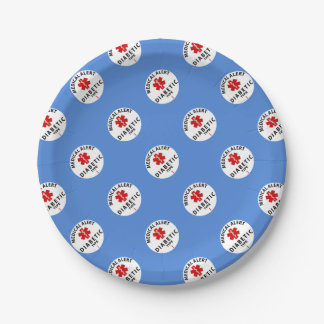 DIABETES TYPE 1 7 INCH PAPER PLATE