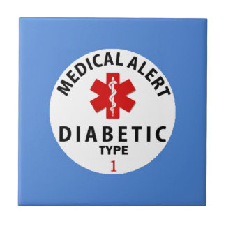 DIABETES TYPE 1 SMALL SQUARE TILE