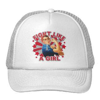Diabetes Vintage Rosie Fight Like A Girl Trucker Hats