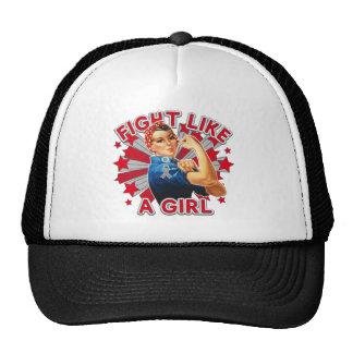 Diabetes Vintage Rosie Fight Like A Girl Mesh Hats