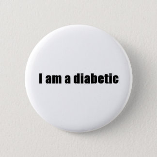 Diabetic 6 Cm Round Badge