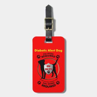 Diabetic Alert Dog ID Luggage Tag