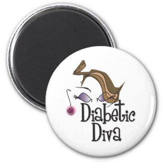 Diabetic Diva 6 Cm Round Magnet