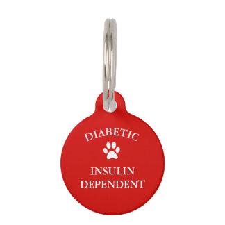 Diabetic Medical Alert Pet Tag