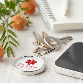 Diabetic Medical Information Key Ring
