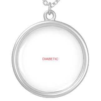 DIABETIC MEDICAL NOTICE SILVER PLATED NECKLACE