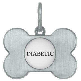 Diabetic Pet Tag - Black