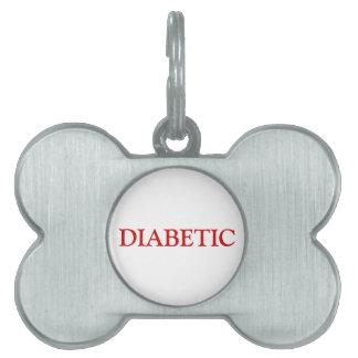 Diabetic Pet Tag - Red