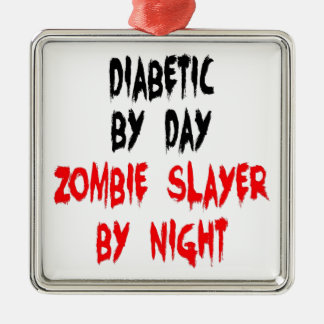 Diabetic Zombie Slayer Christmas Ornament