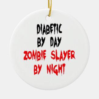 Diabetic Zombie Slayer Christmas Ornament