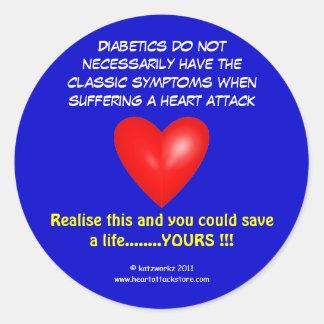 Diabetics do not necessarily have classic round sticker