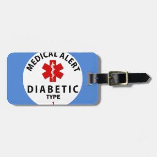 DIABETIES TYPE 1 LUGGAGE TAG