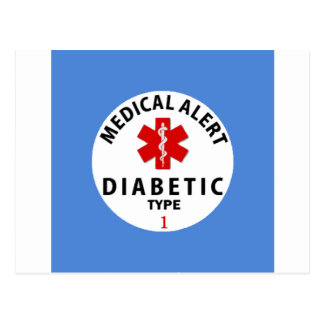 DIABETIES TYPE 1 POSTCARD