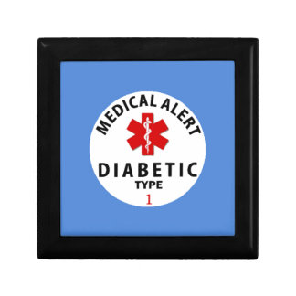 DIABETIES TYPE 1 SMALL SQUARE GIFT BOX