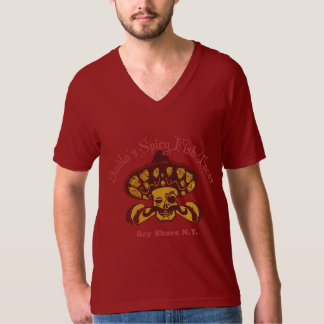 Diablo's Spicy Fish Tacos Red V-neck T-Shirt