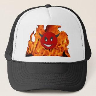 Diabolic smiley trucker hat