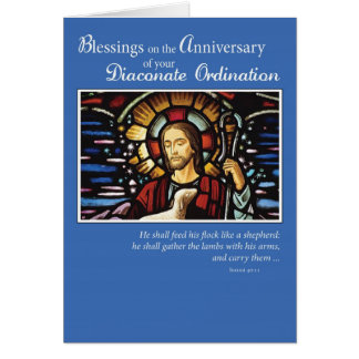 Diaconate Ordination Anniversary Shepherd, Deacon Card