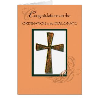 Diaconate Ordination Congratulations Cross Deacon Cards