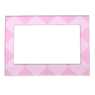 Diag Checkered Large - Pink and Light Pink Magnetic Picture Frame