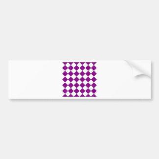Diag Checkered - White and Purple Bumper Sticker
