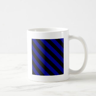 Diag Stripes - Black and Dark Blue Mug