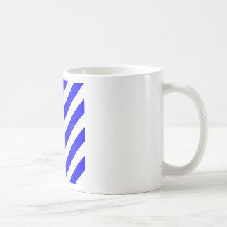 Diag Stripes - White and Blue Coffee Mugs