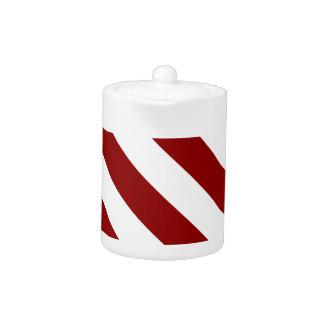 Diag Stripes - White and Dark Red