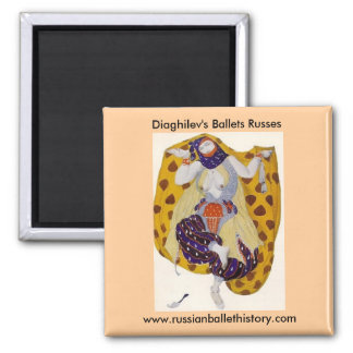 Diaghilev's Ballets Russes Square Magnet