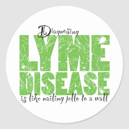 Diagnosing Lyme Disease Classic Round Sticker