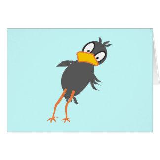 diagonal bird greeting card