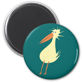 diagonal bird odd duck refrigerator magnet
