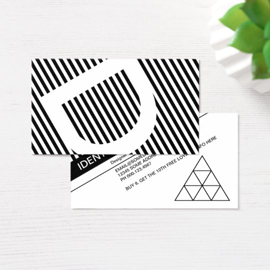 diagonal blinds loyalty stamp business card