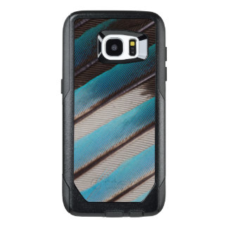 Diagonal Blue-Bellied Roller Feather Design OtterBox Samsung Galaxy S7 Edge Case