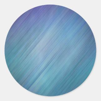Diagonal Blue Rain Round Sticker