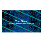 Diagonal Blues Abstract Pattern Business Card Template