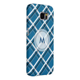 Diagonal Checks with Custom Monogram Samsung Galaxy S6 Cases