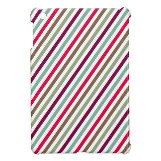 Diagonal Chic Multicolored Stripes Case For The iPad Mini