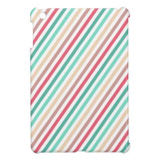 Diagonal Chic Multicolored Stripes iPad Mini Covers
