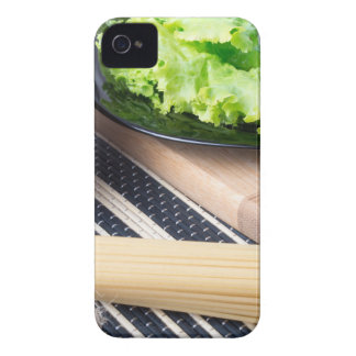 Diagonal composition on a table with a fresh salad Case-Mate iPhone 4 cases