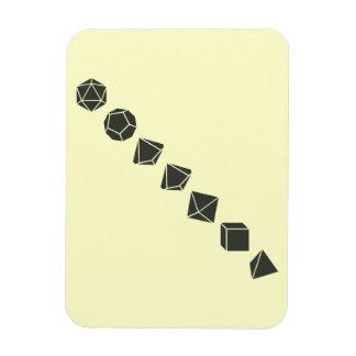Diagonal Dice (Dark) Rectangular Photo Magnet