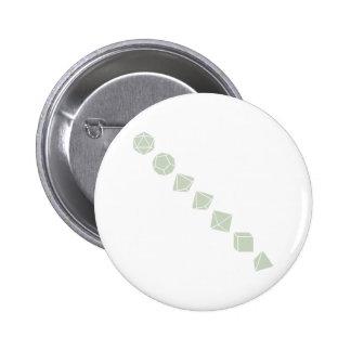 Diagonal Dice (Light) 6 Cm Round Badge
