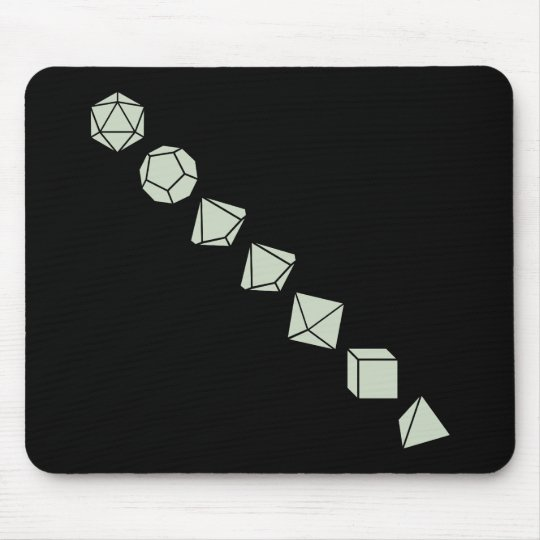 Diagonal Dice (Light) Mouse Mat