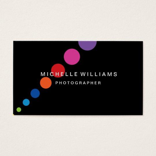 Diagonal Dots Photographer Business Card