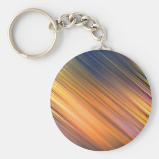 Diagonal Gold And Green Movement Basic Round Button Key Ring