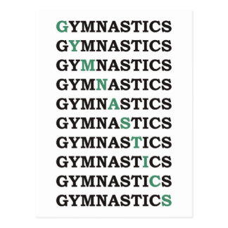 Diagonal Gymnastics Postcards