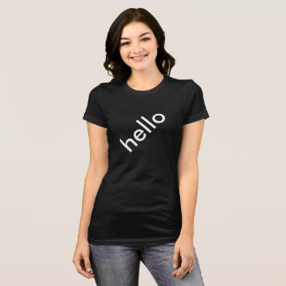 Diagonal Hello Womens Top TookiesTs
