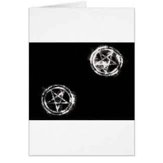 Diagonal Inverted Pentagrams Greeting Card